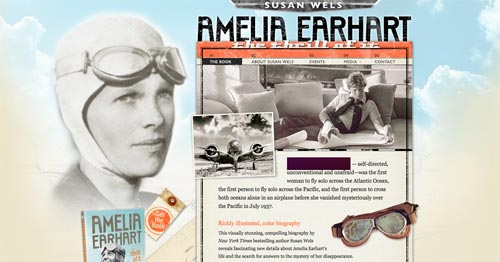 Amelia Earhart Buch Website